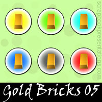 Free Gold Bricks Embellishments, Scrapbook Downloads, Printables, Kit