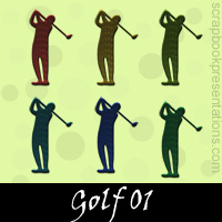 Free Golf Embellishments, Scrapbook Downloads, Printables, Kit
