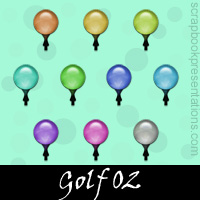 Free Golf SnagIt Stamps, Scrapbooking Printables Download