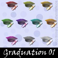 Graduation Scrapbook Embellishments