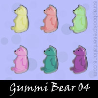 Free Gummi Bear SnagIt Stamps, Scrapbooking Printables Download