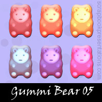 Free Gummi Bear Embellishments, Scrapbook Downloads, Printables, Kit