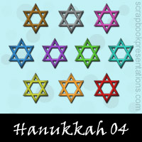 Free Hanukkah Embellishments, Scrapbook Downloads, Printables, Kit