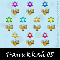Free Hanukkah SnagIt Stamps, Scrapbooking Printables Download