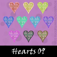 Free Playing Cards: Hearts SnagIt Stamps, Scrapbooking Printables Download