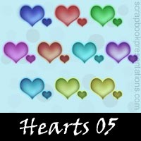 Free Hearts Embellishments, Scrapbooking Printables Download