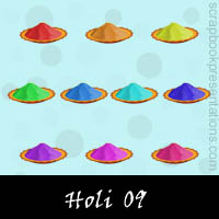 Free Holi Embellishments, Scrapbook Downloads, Printables, Kit