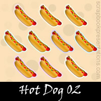 Free Hot Dog Embellishments, Scrapbook Downloads, Printables, Kit
