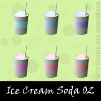 Free Ice Cream Soda SnagIt Stamps, Scrapbooking Printables Download