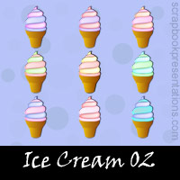 Free Ice Cream SnagIt Stamps, Scrapbooking Printables Download