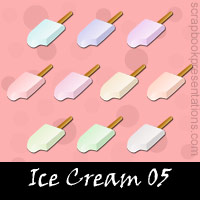 Free Ice Cream Embellishments, Scrapbook Downloads, Printables, Kit