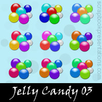 Free Jelly Candy Embellishments, Scrapbook Downloads, Printables, Kit