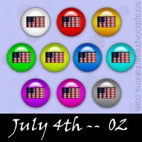 Free July 4th SnagIt Stamps, Scrapbooking Printables Download