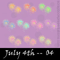 Free July 4th Embellishments, Scrapbook Downloads, Printables, Kit