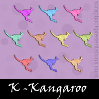 Free Kangaroo Embellishments, Scrapbook Downloads, Printables, Kit