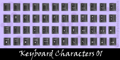 Free Keyboard Characters SnagIt Stamps, Scrapbooking Printables Download