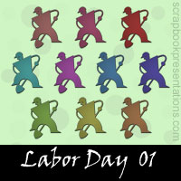 Labor Day Embellishments