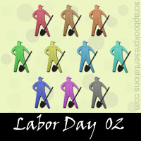 Free Labor Day SnagIt Stamps, Scrapbooking Printables Download