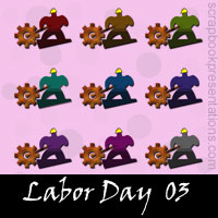Free Labor Day Embellishments, Scrapbook Downloads, Printables, Kit
