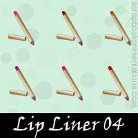 Free Lip Liner Embellishments, Scrapbook Downloads, Printables, Kit