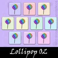 Free Lollipop SnagIt Stamps, Scrapbooking Printables Download