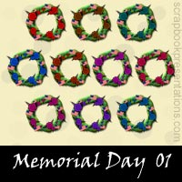 Free Memorial Day Embellishments, Scrapbook Downloads, Printables, Kit
