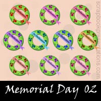 Free Memorial Day SnagIt Stamps, Scrapbooking Printables Download