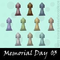 Memorial Day Scrapbook Embellishments