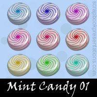 Free Mint Candy Embellishments, Scrapbook Downloads, Printables, Kit