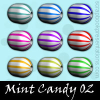 Free Mint Candy SnagIt Stamps, Scrapbooking Printables Download