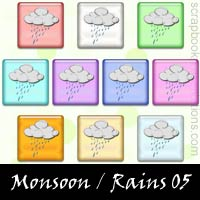 Monsoon/Rains Scrapbook Embellishments