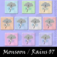 Monsoon/Rains Snagit Stamps