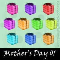 Mother's Day Scrapbook Embellishments