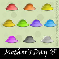 Free Mother's Day Embellishments, Scrapbook Downloads, Printables, Kit