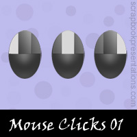 Free Mouse Clicks SnagIt Stamps, Scrapbooking Printables Download