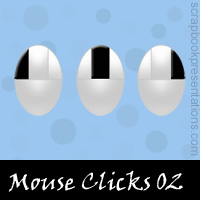 Free Mouse Click Embellishments, Scrapbook Downloads, Printables, Kit