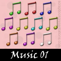 Free Music Embellishments, Scrapbook Downloads, Printables, Kit