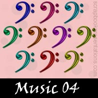 Free Music SnagIt Stamps, Scrapbooking Printables Download