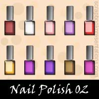 Free Nail Polish SnagIt Stamps, Scrapbooking Printables Download