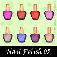 Free Nail Polish Embellishments, Scrapbook Downloads, Printables, Kit