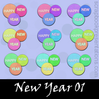 Free New Year SnagIt Stamps, Scrapbooking Printables Download