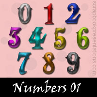 Free Numbers Embellishments, Scrapbook Downloads, Printables, Kit