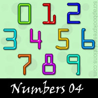 Free Numbers SnagIt Stamps, Scrapbooking Printables Download