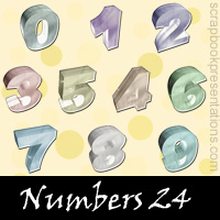 Free Number Scrapbook Embellishments