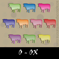 Free Ox Embellishments, Scrapbook Downloads, Printables, Kit