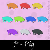 Free Pig Embellishments, Scrapbook Downloads, Printables, Kit