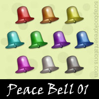 Free Peace Bell SnagIt Stamps, Scrapbooking Printables Download