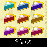 Free Pie Embellishments, Scrapbook Downloads, Printables, Kit