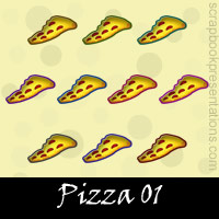 Free Pizza SnagIt Stamps, Scrapbooking Printables Download
