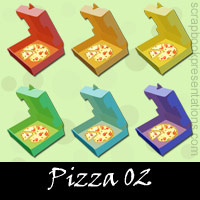 Free Pizza Embellishments, Scrapbook Downloads, Printables, Kit